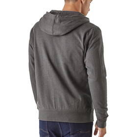 Patagonia P-6 Label LW Sweat à capuche zippé Homme, forge grey